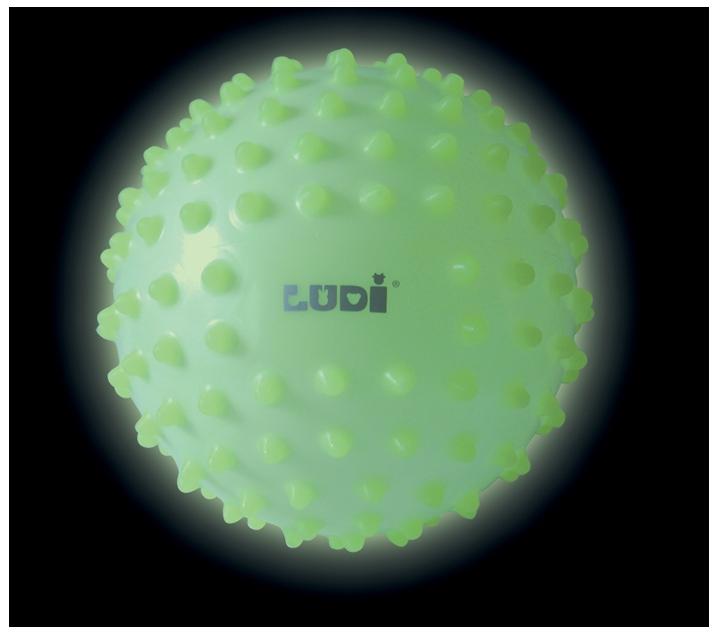 Pelota sensorial fluorescente