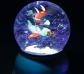 Lámpara y bola de purpurina Avión