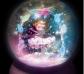 Lámpara y bola de purpurina bailarina