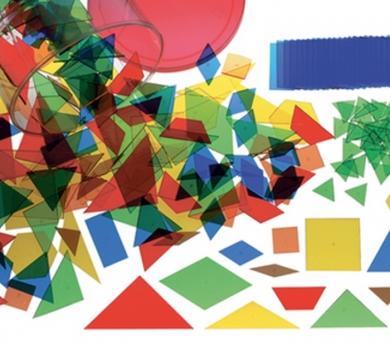 450 piezas translúcidas