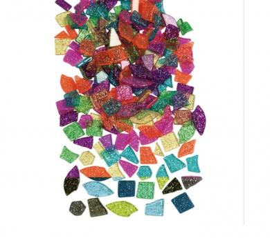 1000 Piezas translúcidas pequeñas con purpurina