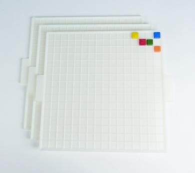 Bandeja para composiciones con teselas de mosaico