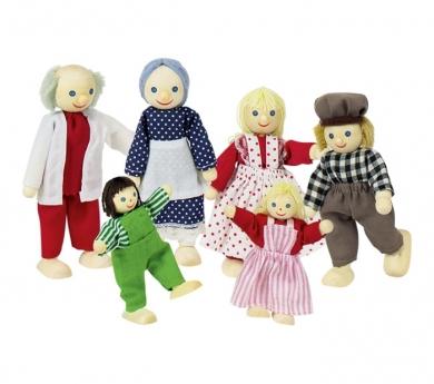 Familia con abuelos articulados
