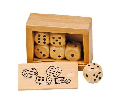 6 dados de madera