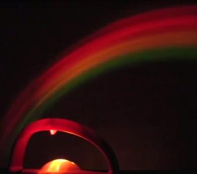 El projector arc de Sant Martí més bola de feng shui