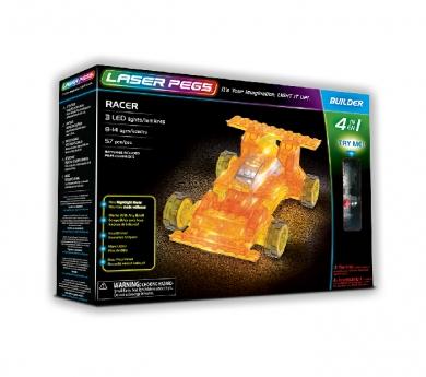 Construcción con luz 4 en 1 racer cars