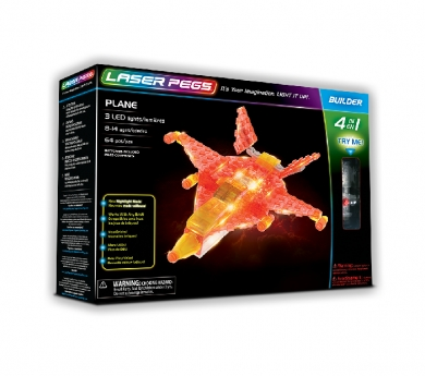 Construcción con luz laser pegs 4 en 1 avión