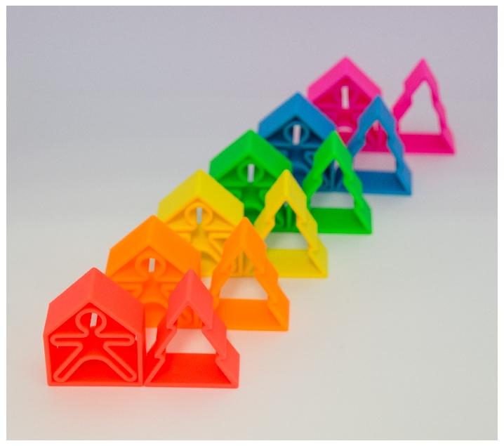 Conjunto de 18 piezas de silicona para jugar