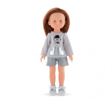 Conjunto personalizable sudadera y pantalón corto para muñeca Chloe