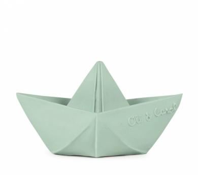 Barquito origami de caucho natural menta