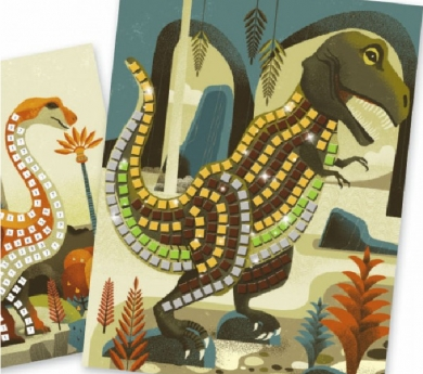 Juego de mosaicos con dinosaurios