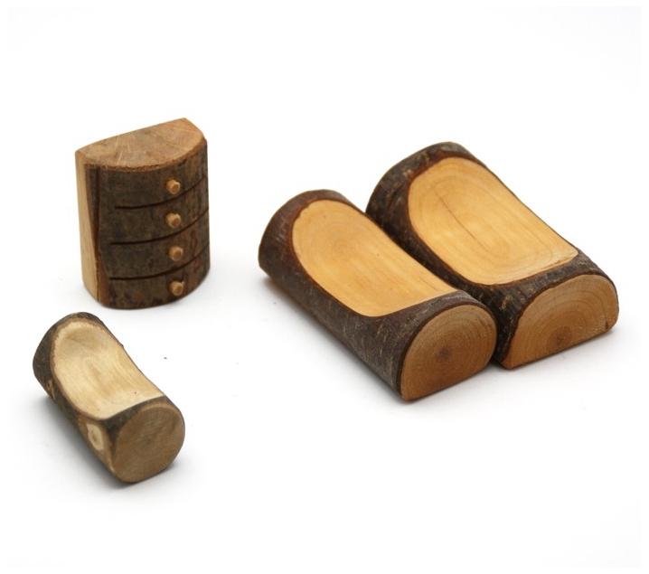 Habitaci n para la casita de madera con corteza - La casita de madera ...