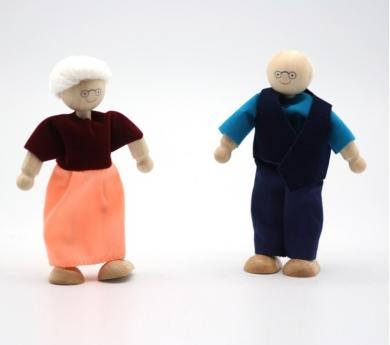 Pareja de abuela y abuelo articulados