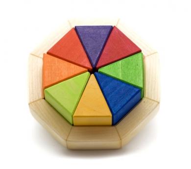 Puzzle Octágono Pequeño de Madera