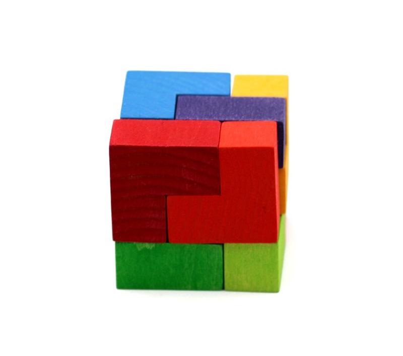 Puzzle de madera cubo perfecto - Cubos de madera ...