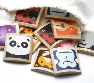 Memori de Animales de madera