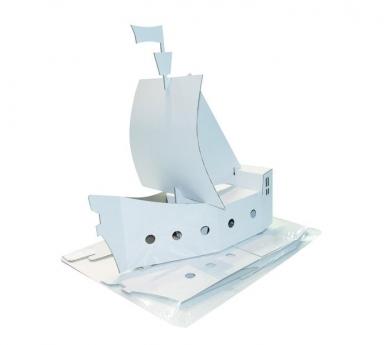 Barco de cartón para Decorar