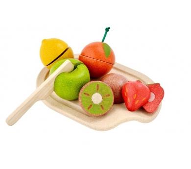 Frutas para cortar con bandeja