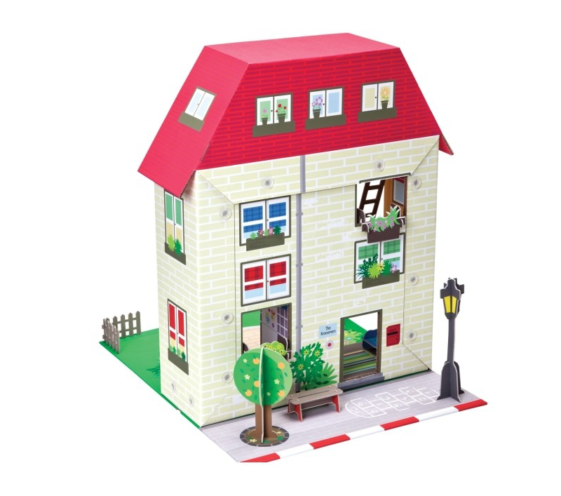 Casa de mu ecas con muebles for Hacer muebles con carton