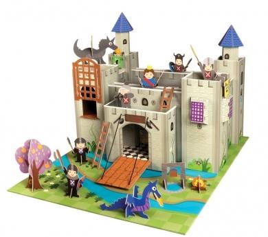 Castillo de cartón con complementos