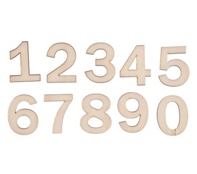 Números petits de fusta