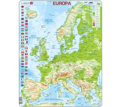 Mapa Puzzle de Europa – Físico