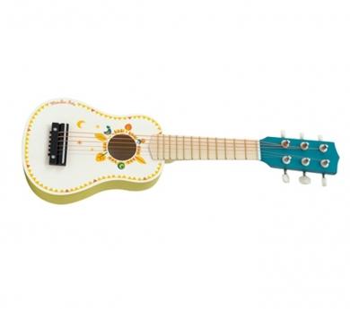 Guitarra pequeña pintada