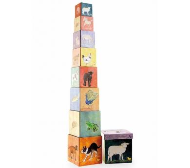 Cubos apilables de cartón