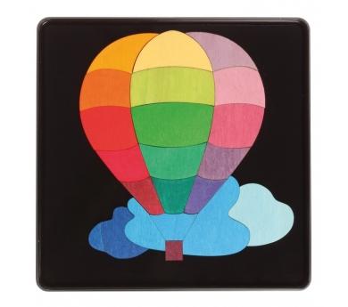 Puzzle magnético globo aerostático