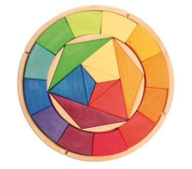 Puzzle círculo de color