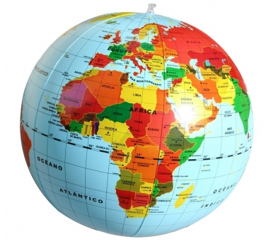 Globus terraqüi inflable