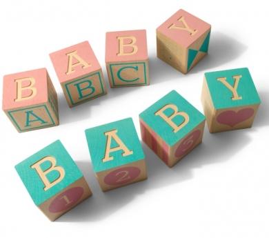 Cubos de madera Baby