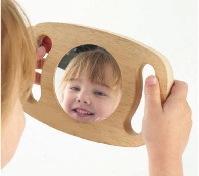 Espejo con marco y asas
