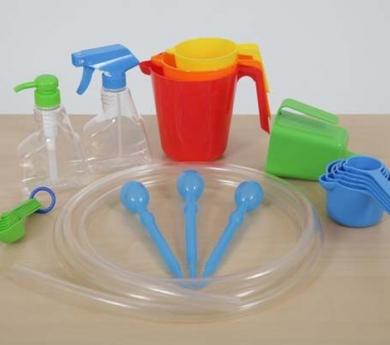 Materiales para experimentación con arena y agua