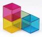 Cubos de colores de plexiglás