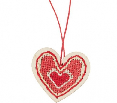 Colgante corazón para bordar