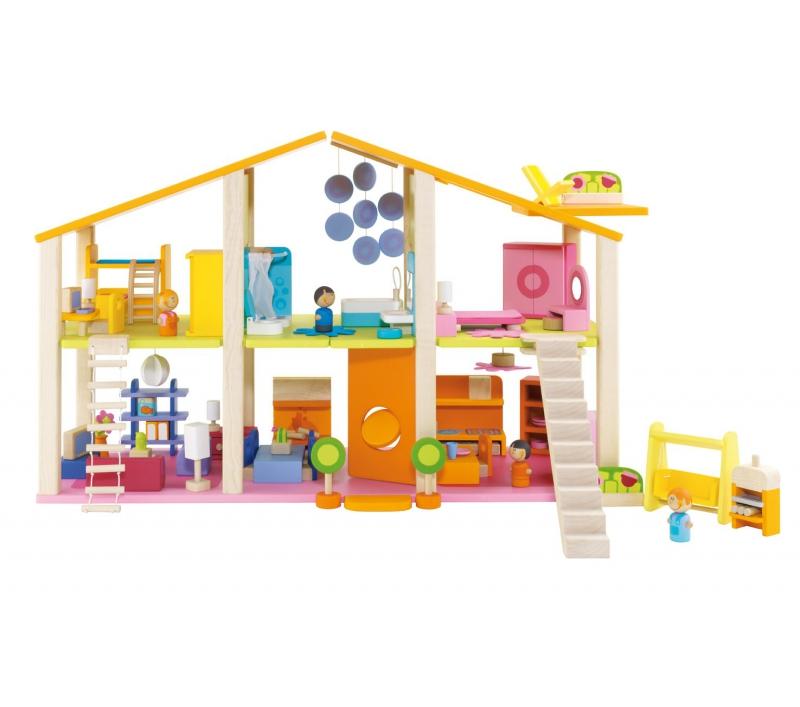 Gran casa de munecas con muebles - Muebles casas munecas ...