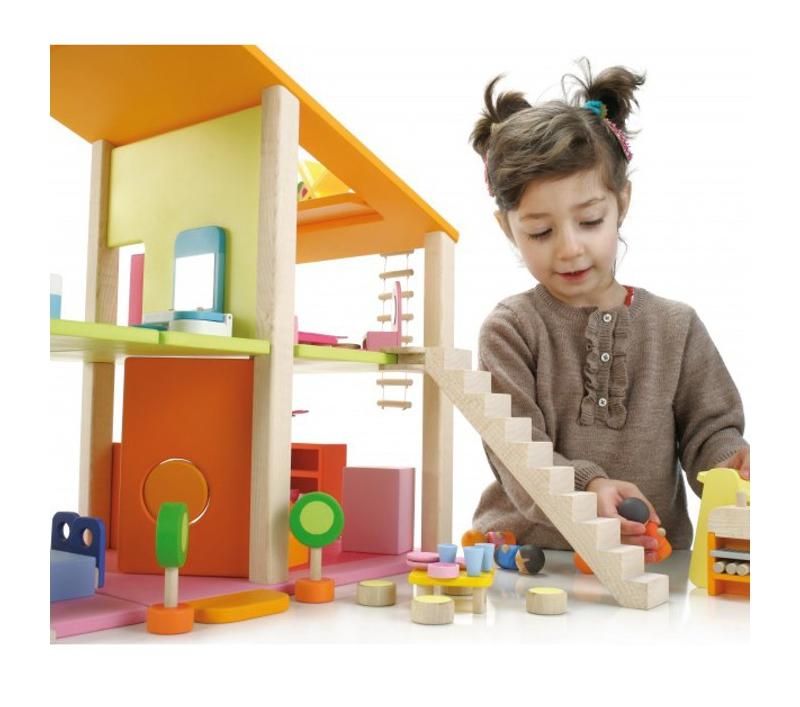 Gran casa de munecas con muebles for Muebles casa de munecas