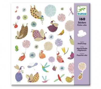 160 pegatinas pequeñas alas