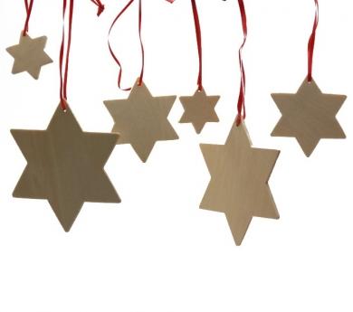 Estrellas de madera para decorar
