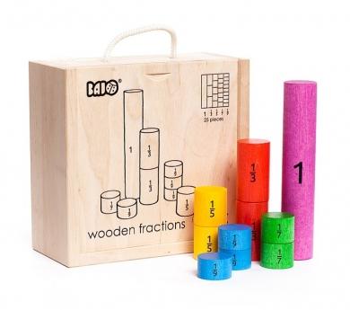 Fracciones cilíndricas de madera