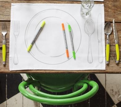 4 manteles Montessori para pintar