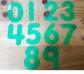 Números con numerales de silicona