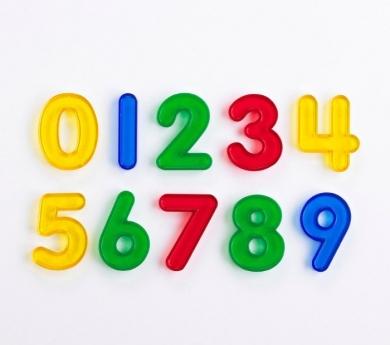 Números de colors transparents