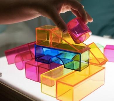 Blocs de construcció de colorstranslúcids