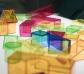 Bloques de construcción de colores translúcidos