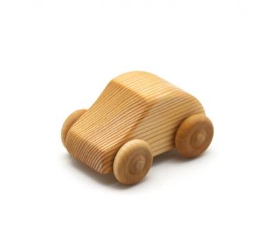 Cotxe petit Mini Fiat de fusta
