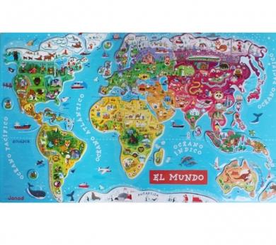 Mapamundi magnètic en espanyol