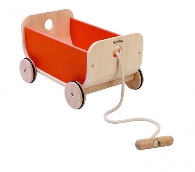 Carro vagón de madera