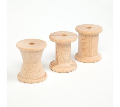 3 carrets de fusta